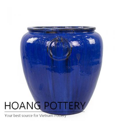 Super big blue urn for garden decor